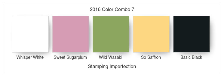 2016 Color Combo 7 Stamping Imperfection