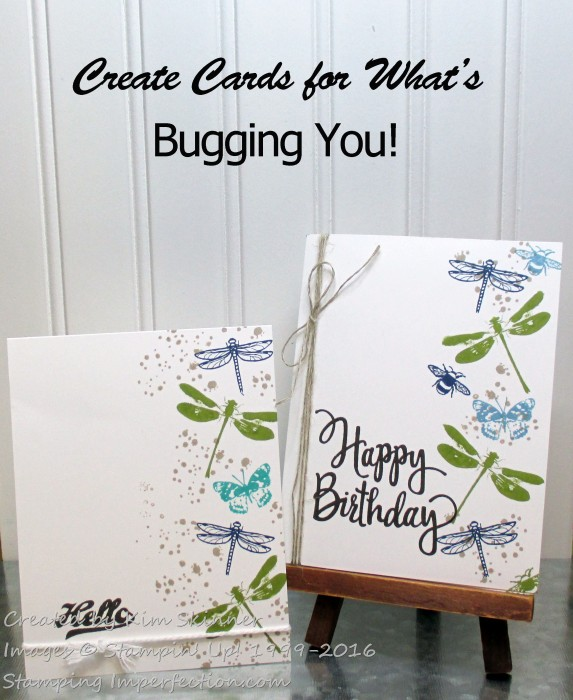 Single Layer Cards from Stamping Imperfection