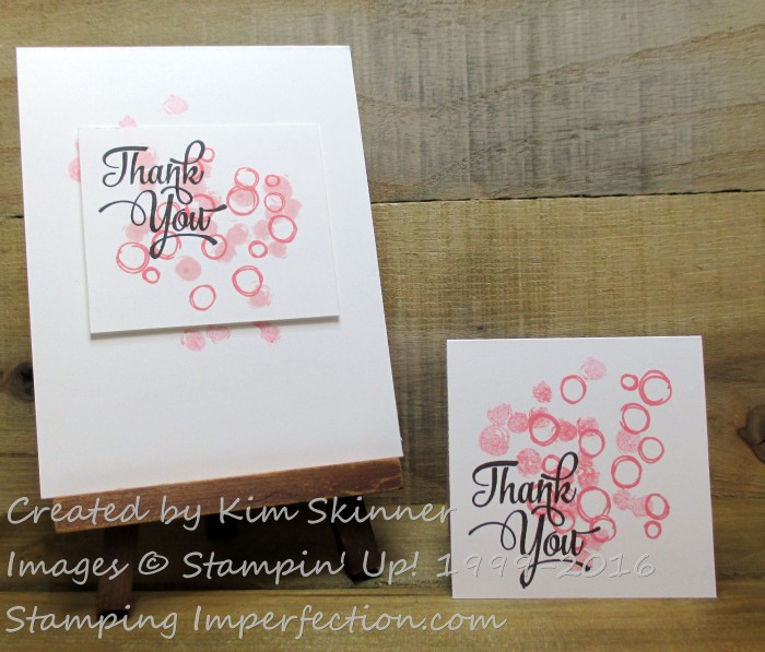 Stamping Imperfection Flirty Flamingo Thank You