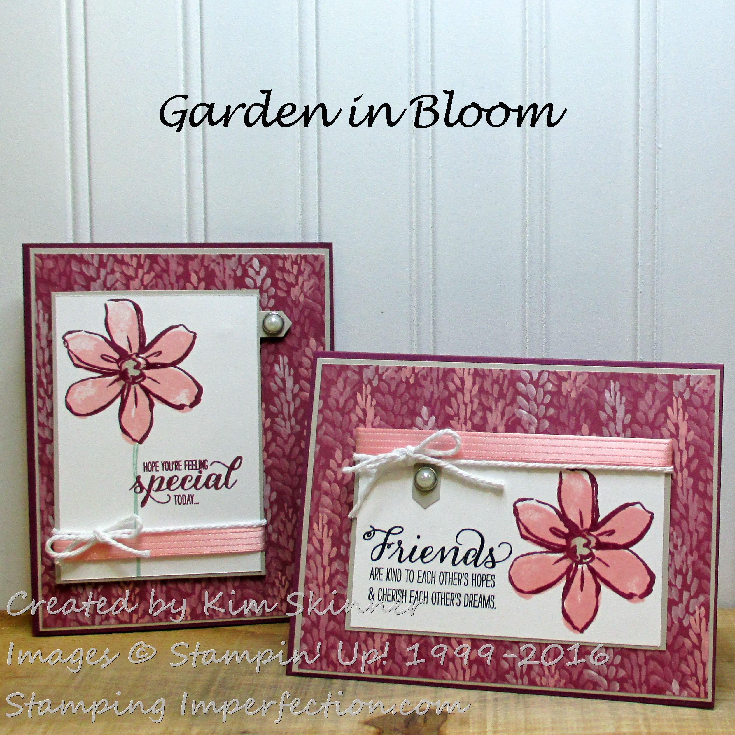 Stamping Imperfection Garden In Bloom