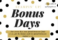 Stamping Imperfection bonus days