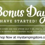 Stampin' Up! Bonus Days Sale!!!