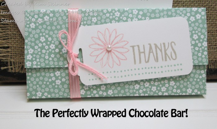 Stamping Imperfection Perfectly Wrapped Chocolate Bar