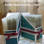 Craft Room Organization Challenge:  Framelits, Thinlets and Embossing Folders