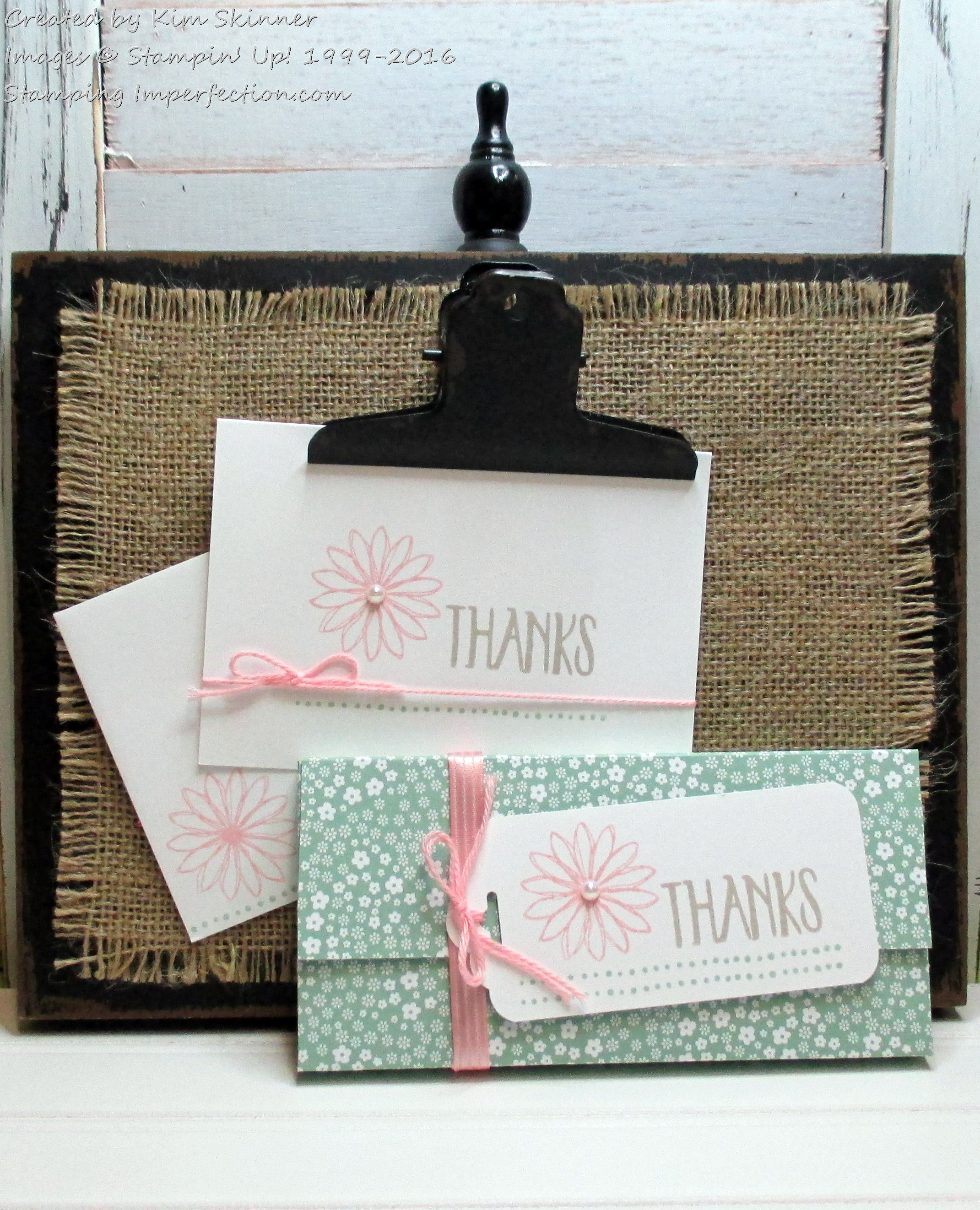 Stamping Imperfection Perfectly Wrapped Chocolate Bar and Thank You Cards