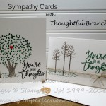 Bonus Days Thoughtful Branches Makes Quick Sympathy Cards