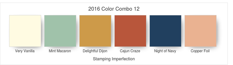Stamping Imperfection 2016 Color Combo 12