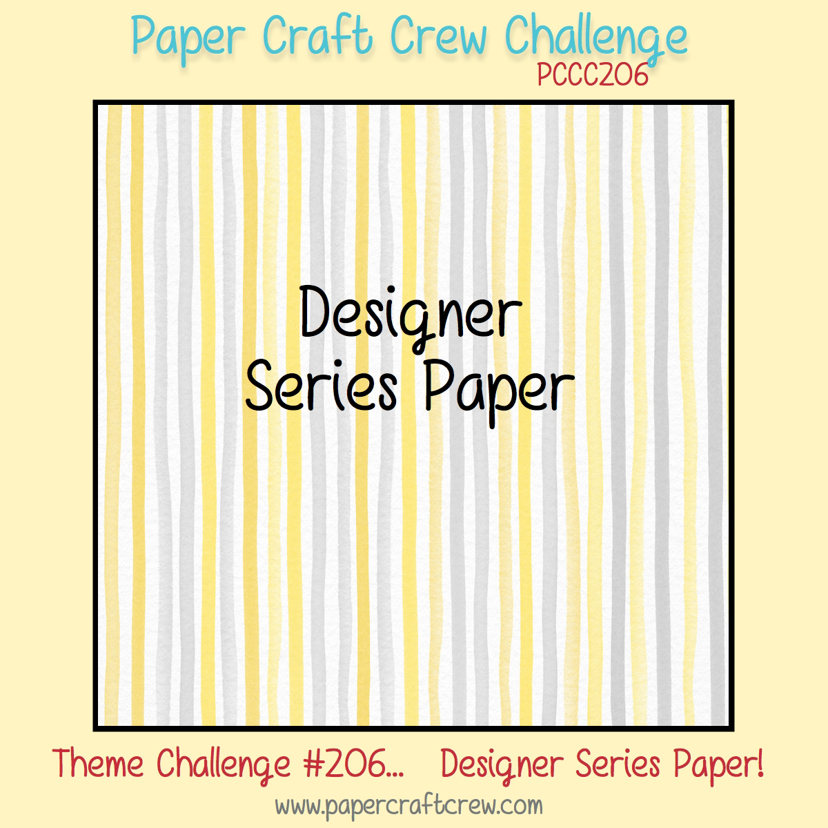 Paper Craft Crew Sketch Challenge