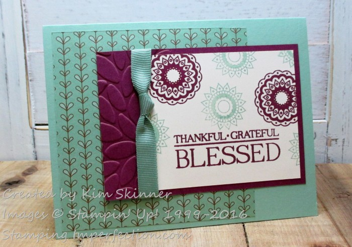Stamping Imperfection Paileys and Posies