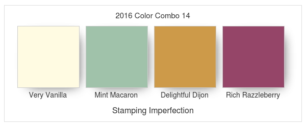 Stamping Imperfection 2016 Color Combo 14