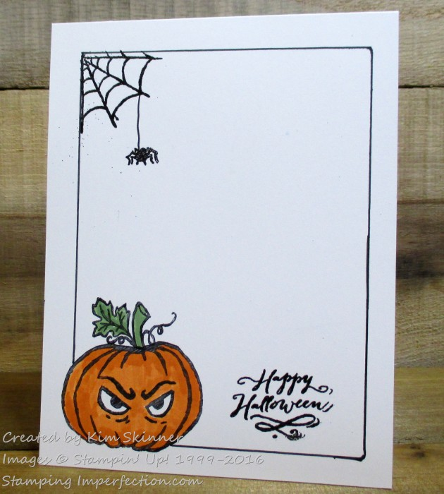 Stamping Imperfection CAS Halloween