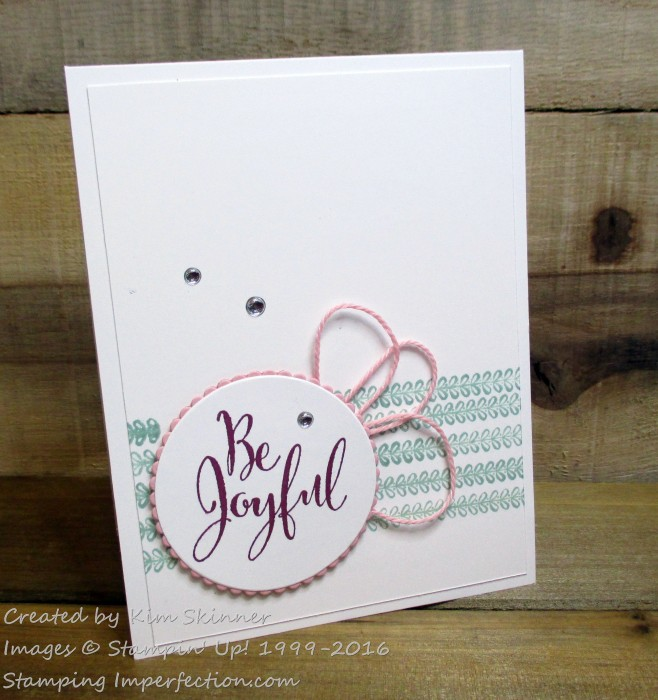 Stamping Imperfection Be Joyful
