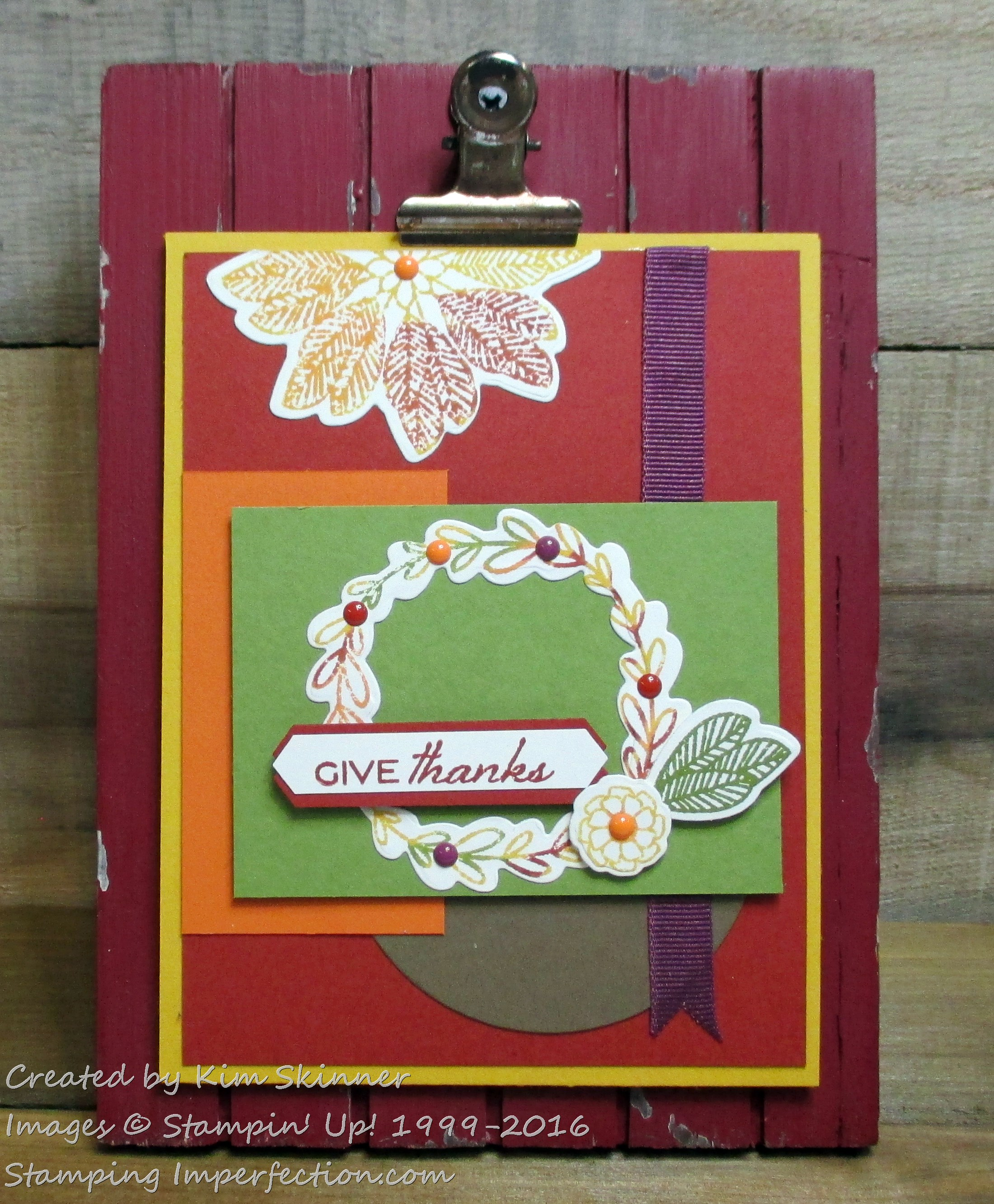 Stamping Imperfection Autumn Blessings
