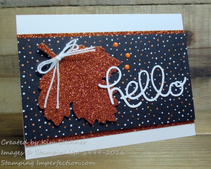 Stamping Imperfection Fall Card
