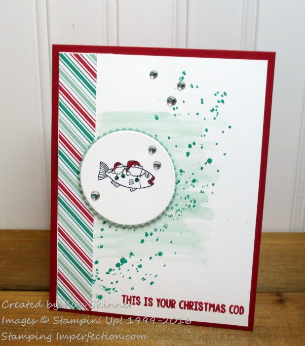 Stamping Imperfection Christmas Cod