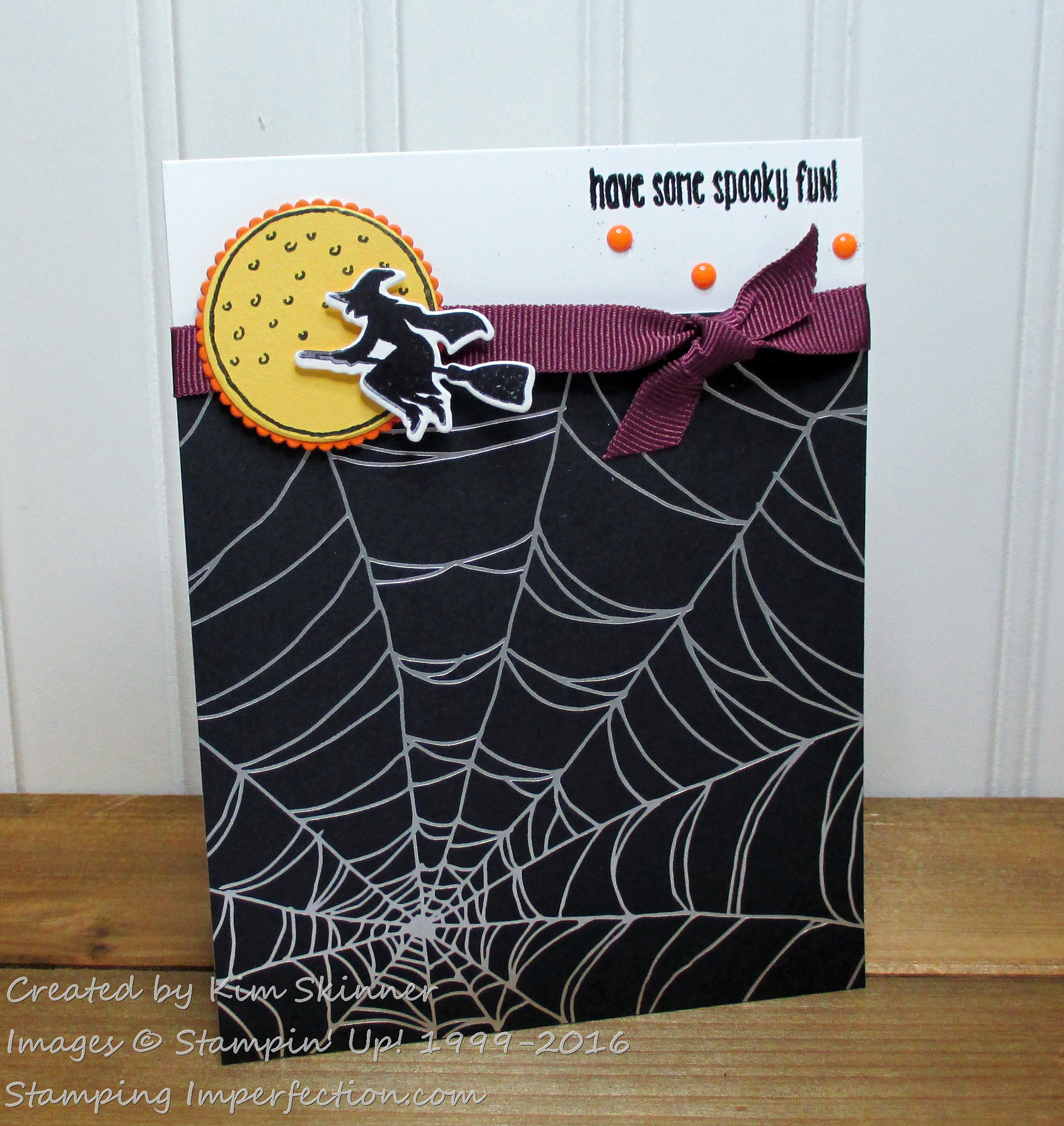 Stamping Imperfection Spooky Fun
