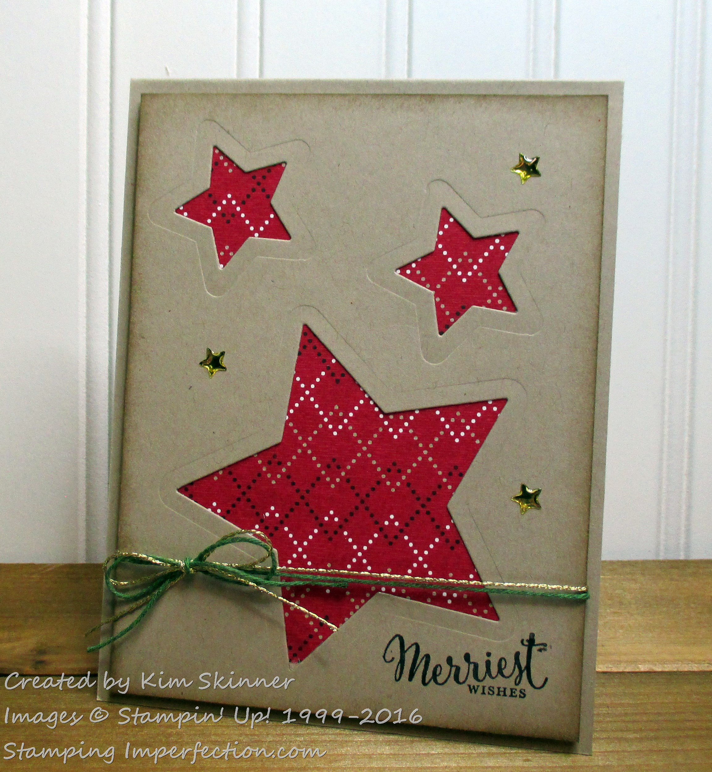Stamping ImperfectionHoliday Paper Challenge