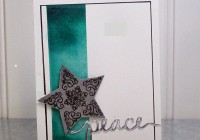 Stamping Imperfection Peace Card