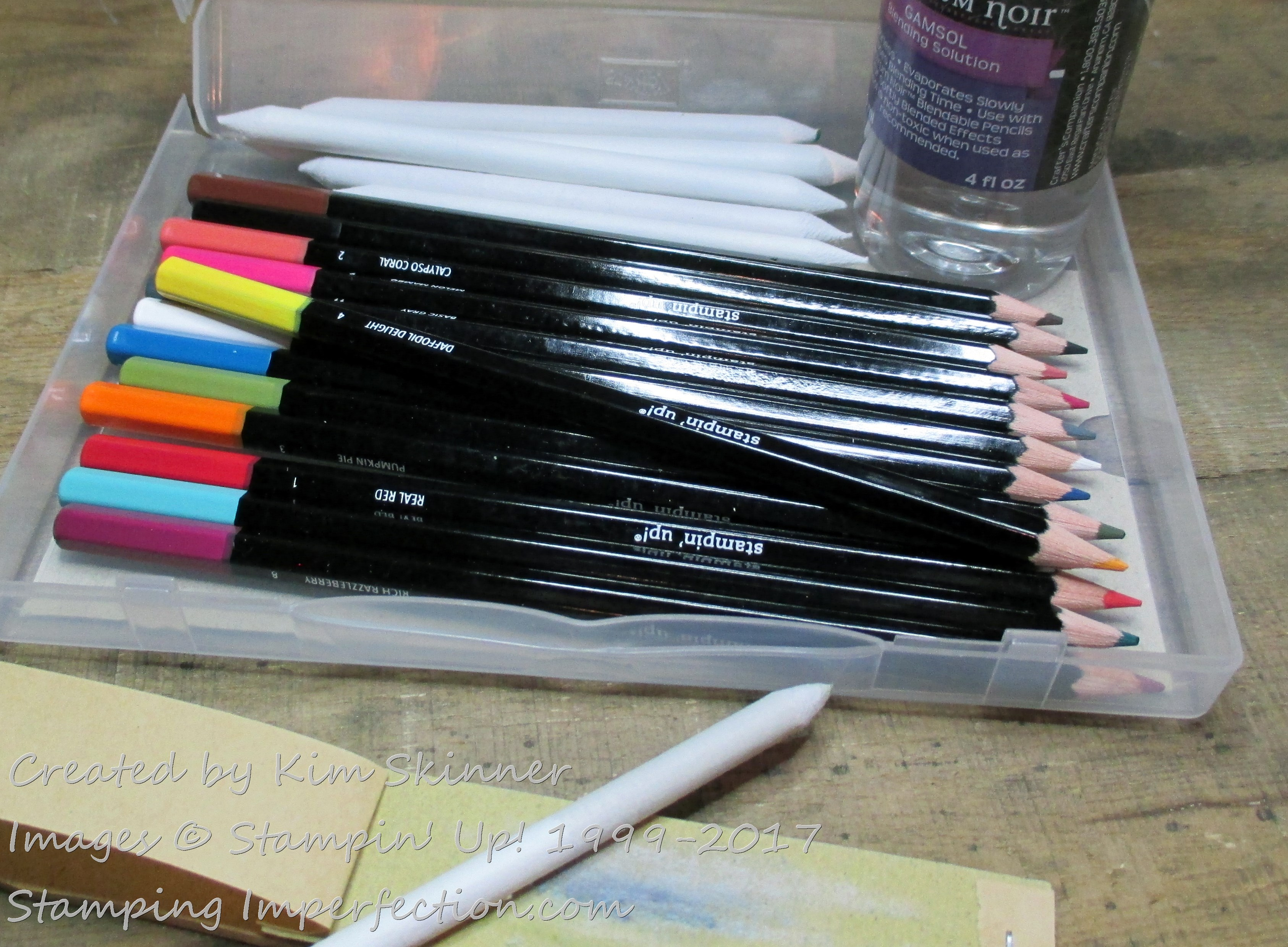 Stamping Imperfection stampin up colored pencils