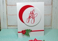 Stamping Imperfection Watercolor Christmas