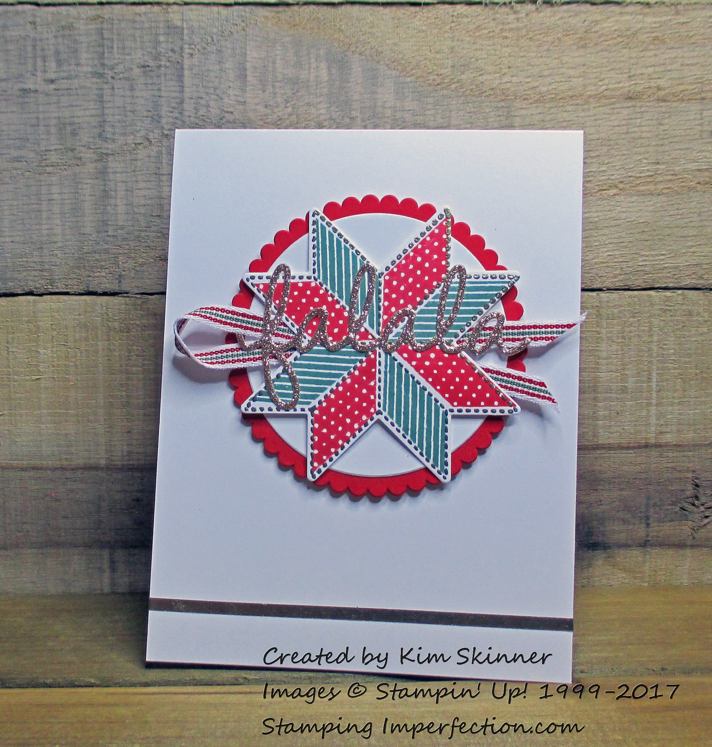 Stamping Imperfection Christmas Quilt