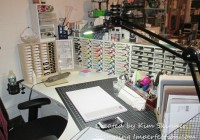 Stamping Imperfection Craft Desk