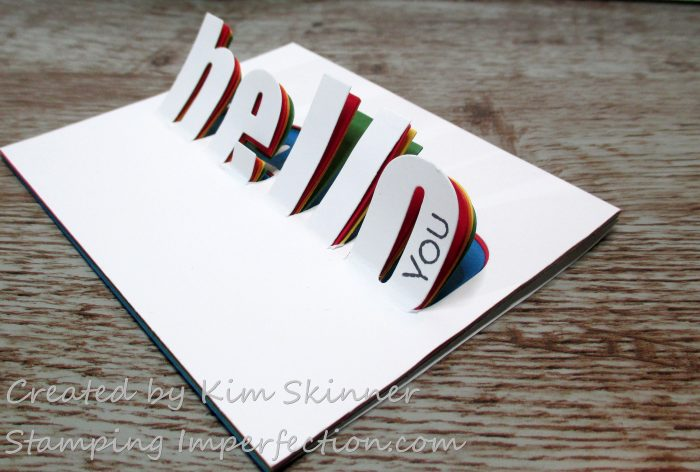 Stamping Imperfection Hinged Die Cut Rainbow