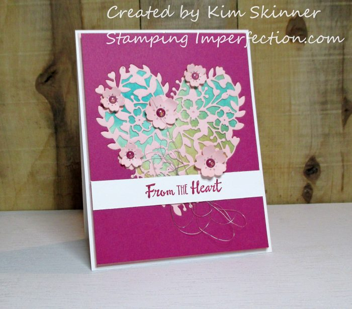 Stamping Imperfection Bloomin' Hearts