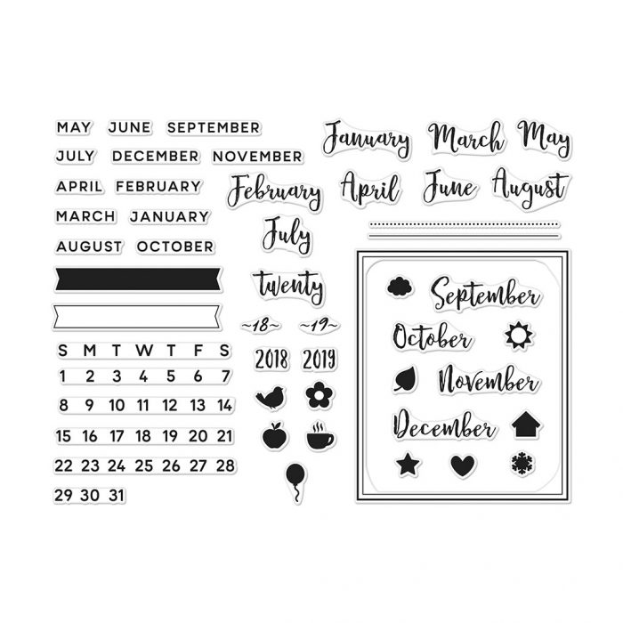 hero arts calendar stamp kit