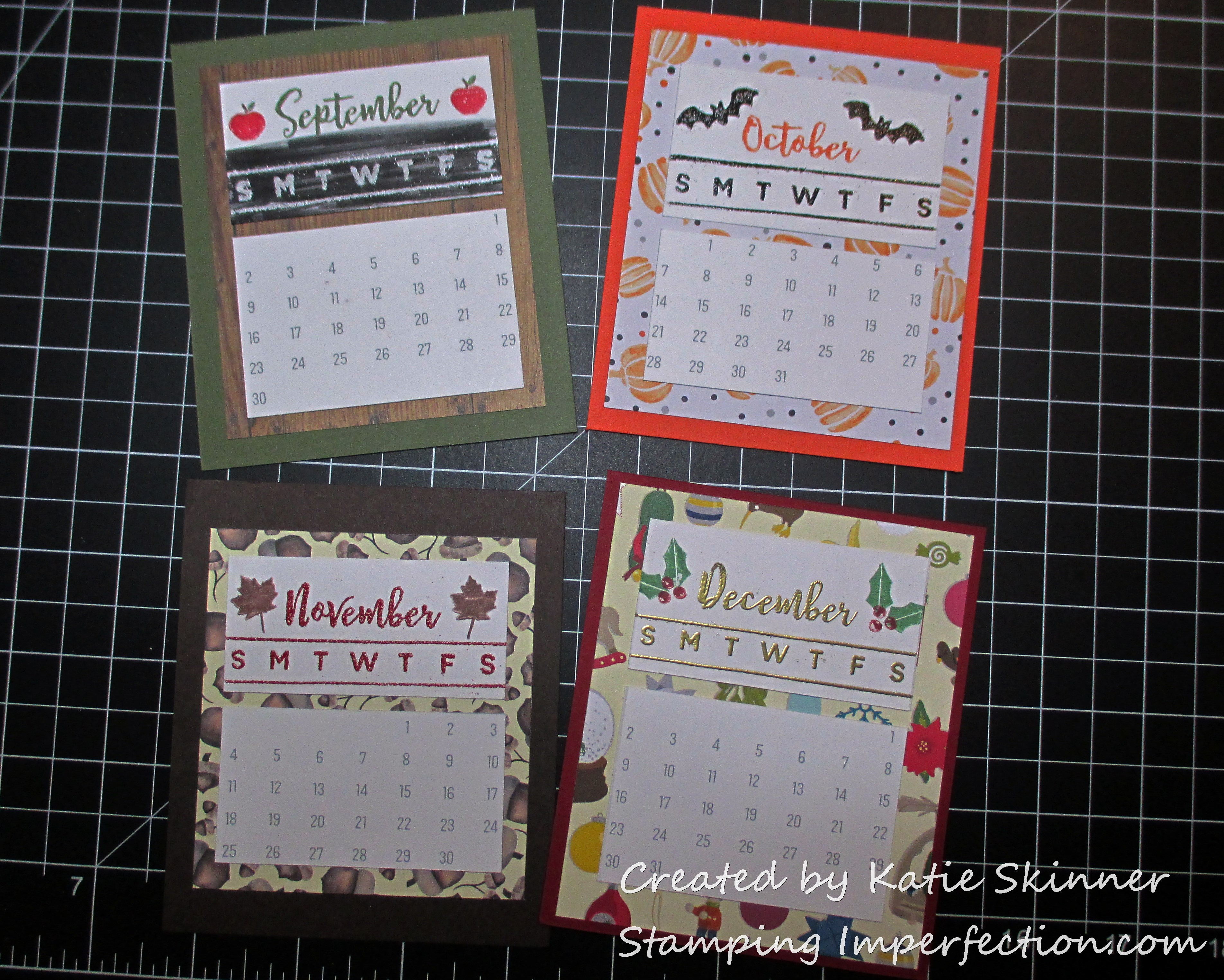 katie_calendar Stamping Imperfection