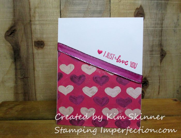 Stamping Imperfection Stampin' Up! Painted with love dsp