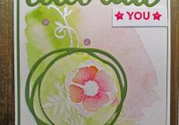 Stamping Imperfection Watercolor Amazing You