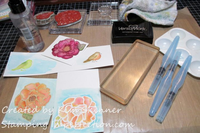 Stamping Imperfection watercolor_dripmix