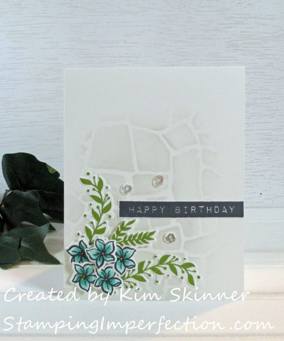 Stamping Imperfection Cards for Teenagers