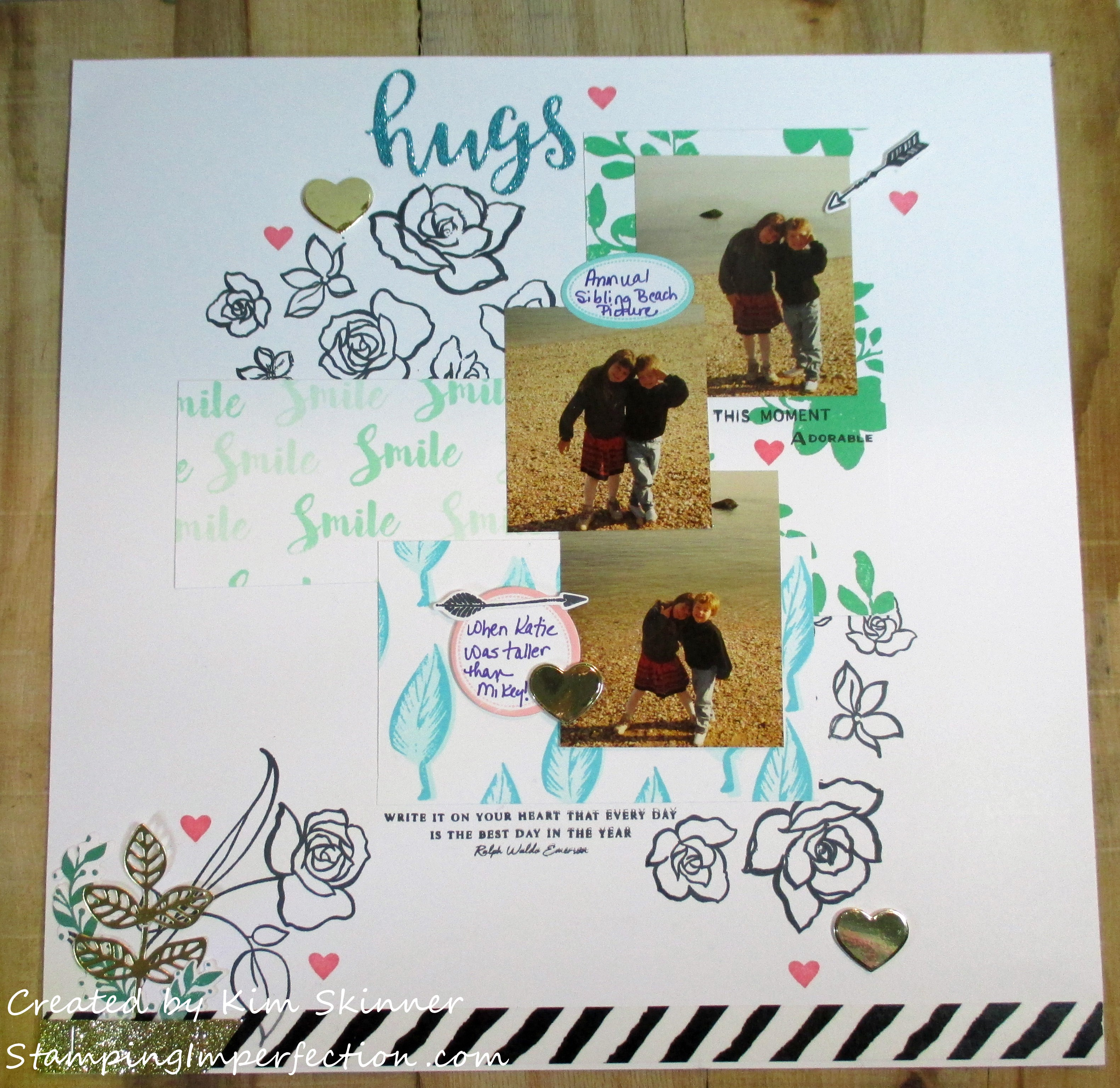 Stamping Imperfection Stamps Meet Scrapbooks 4 & 5