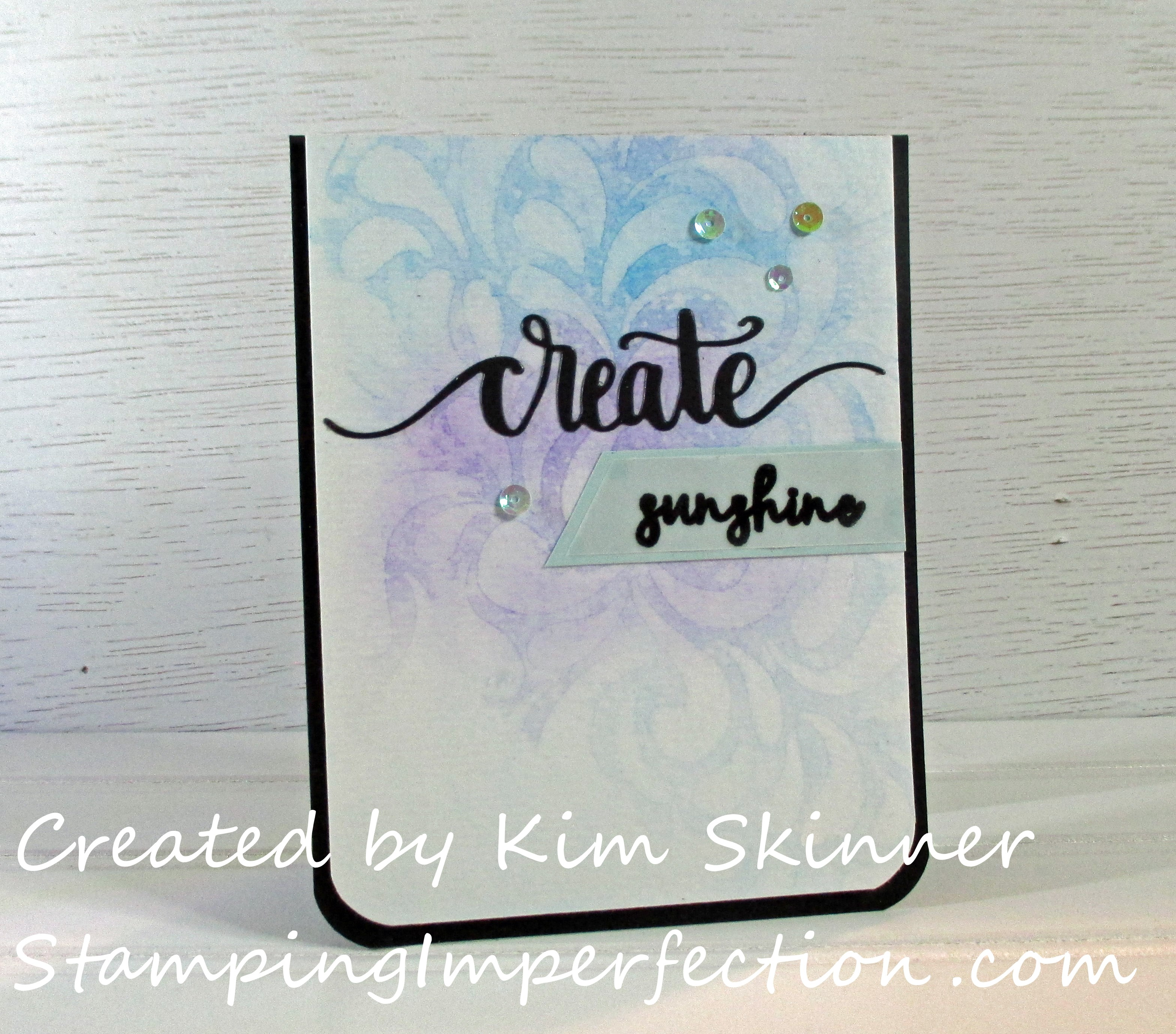 Stamping Imperfection Watercoloring with Stencils