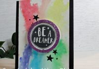 Stamping Imperfection Watercolor Dreamer