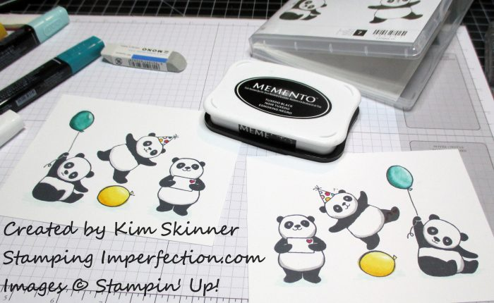 Stamping Imperfection Party Pandas and Inlaid Die Cutting