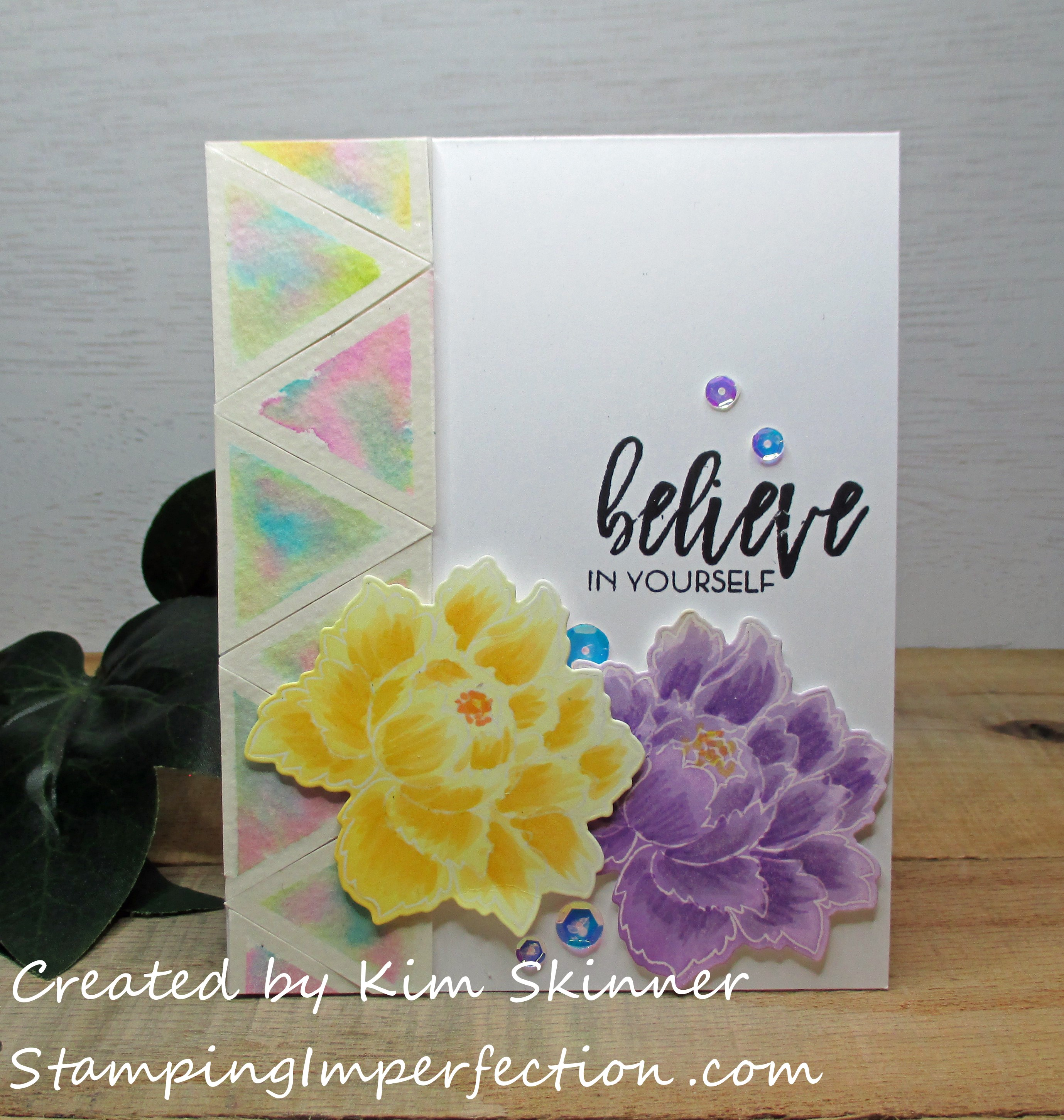 Stamping Imperfection Clean, Simple and Colorful Cards