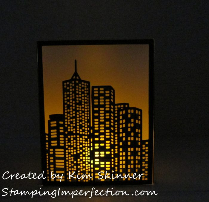 Stamping Imperfection Tea Light Lantern from Altenew Cover Dies