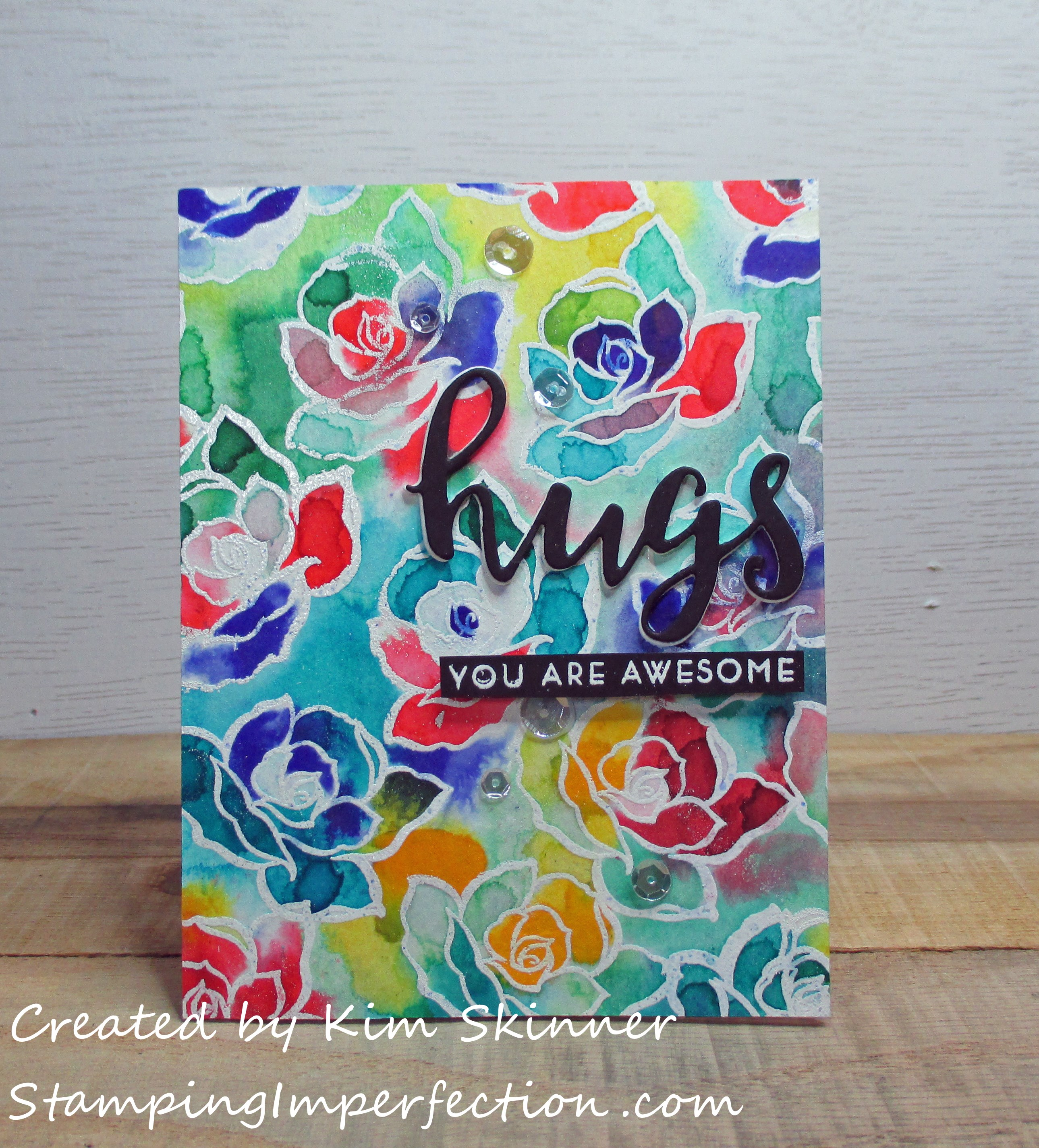 Stamping Imperfection Creative Watercolor Media
