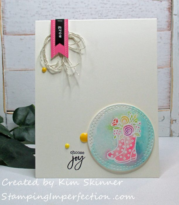 Stamping Imperfection Simon Says Stamps March Kit Choose Joy