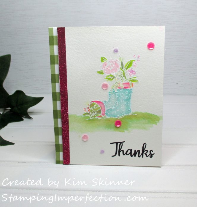 Stamping Imperfection Simon Says Stamps Showers and Flowers