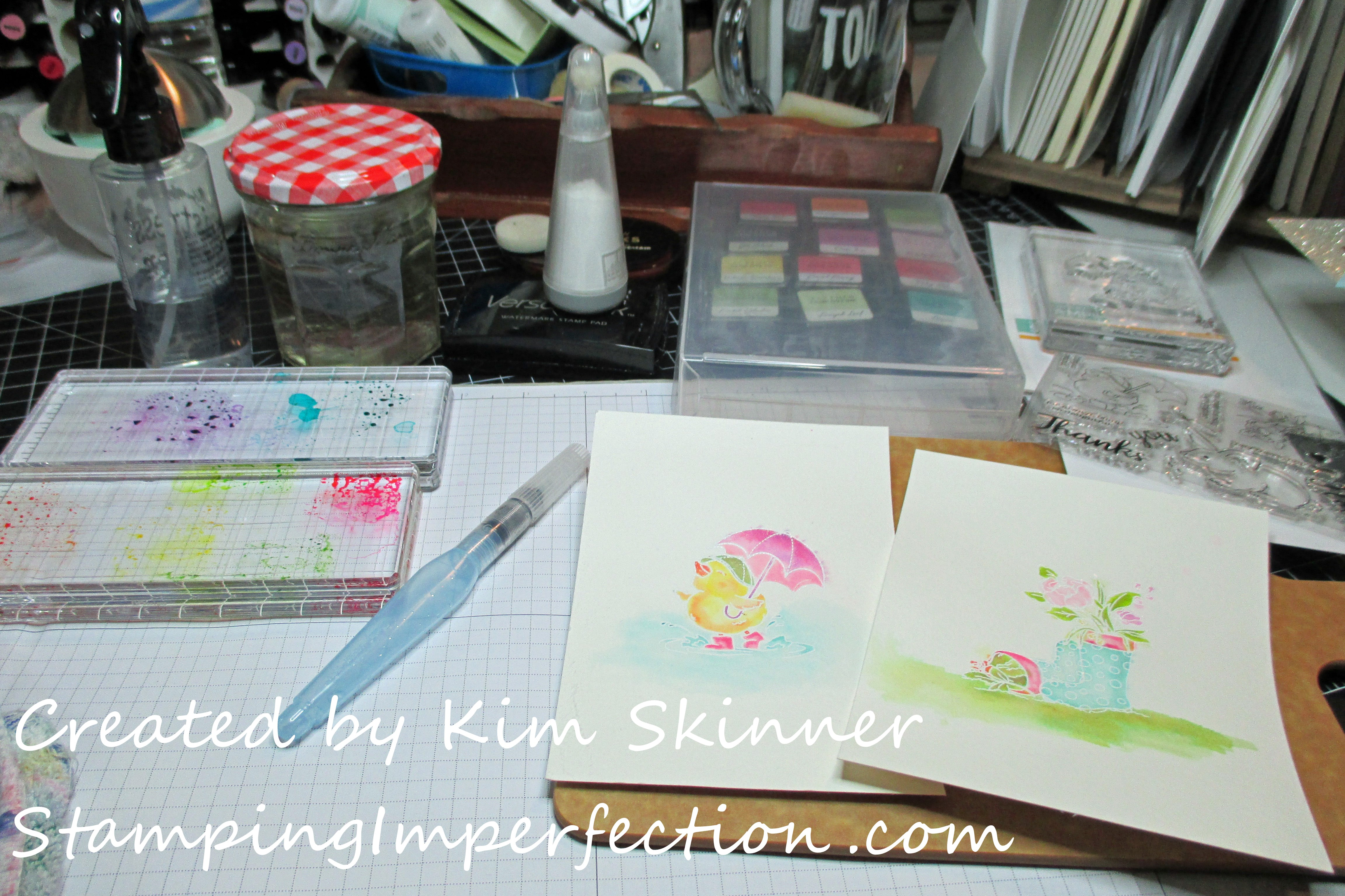Stamping Imperfection Watercolors