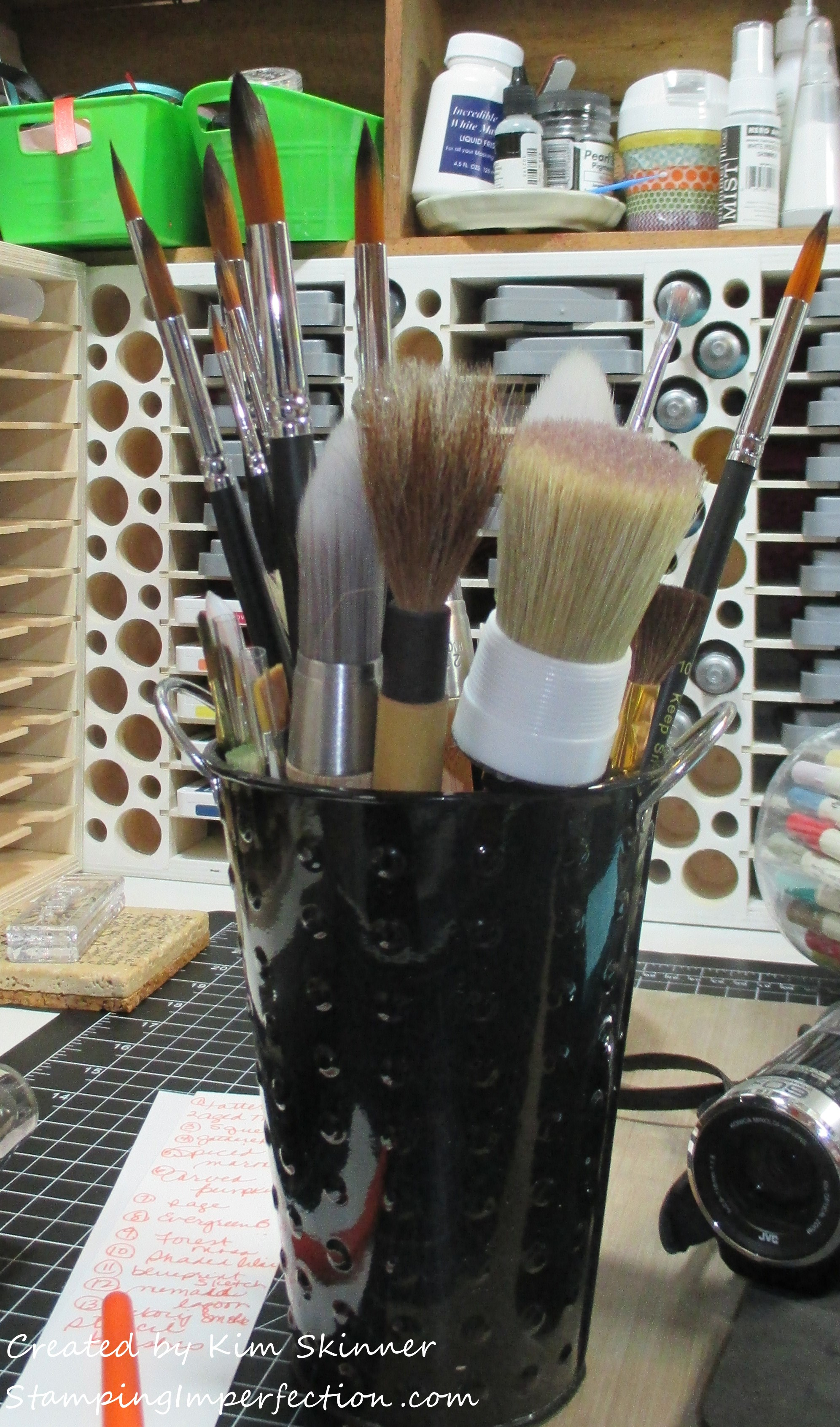 Stamping Imperfection Craft Room Organization