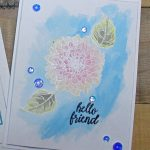 Gina K Designs Hello Friend With A Watercolor Background
