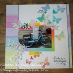 Stamping and Scrapbooking With Distress Oxide Ink Blending and Stencils