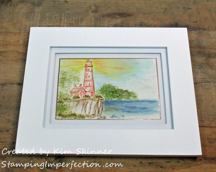 Stamping Imperfection Watercolor with Art Impressions