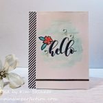 Quick Card With Altenew's Mini Hello Stamp Set