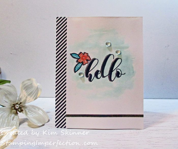 Stamping Imperfection Altenew Mini Hello